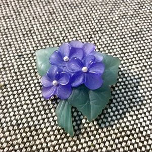 Vintage Avon Bouquet of Violets Brooch